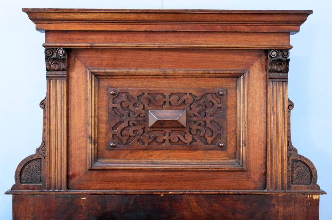 A Pair of Elizabethan Style Walnut Twin Beds - 3