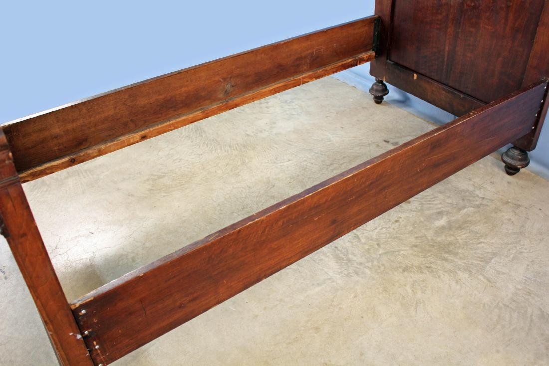 A Pair of Elizabethan Style Walnut Twin Beds - 5