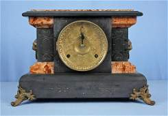 A Seth Thomas Mantle Clock with Faux Marble