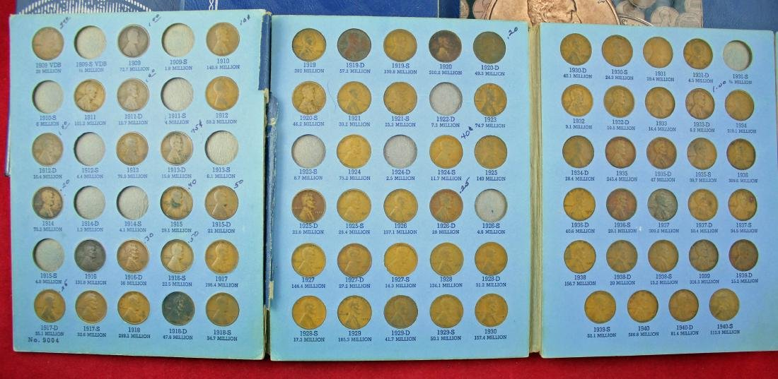10 Penny Books 1909 - 2013, w/ Nickel and Canada - 2
