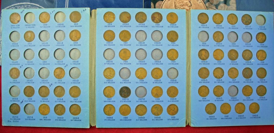 10 Penny Books 1909 - 2013, w/ Nickel and Canada - 3