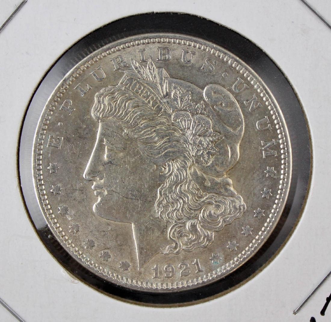 Ten 1921 Morgan Silver Dollars P, S, and D - 2