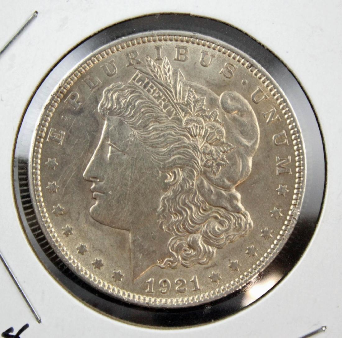 10 Morgan 1921 P Silver Dollars Various Conditions - 2
