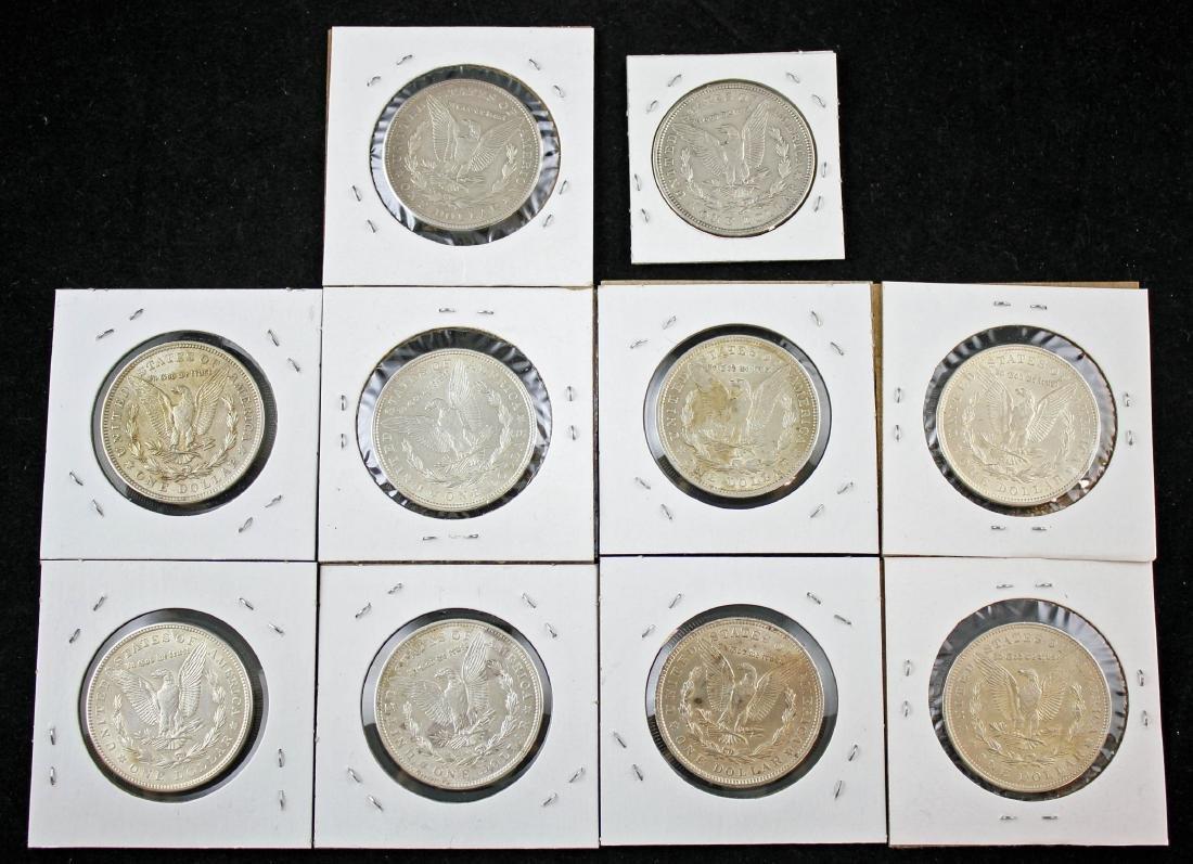 10 Morgan 1921 P Silver Dollars Various Conditions - 3