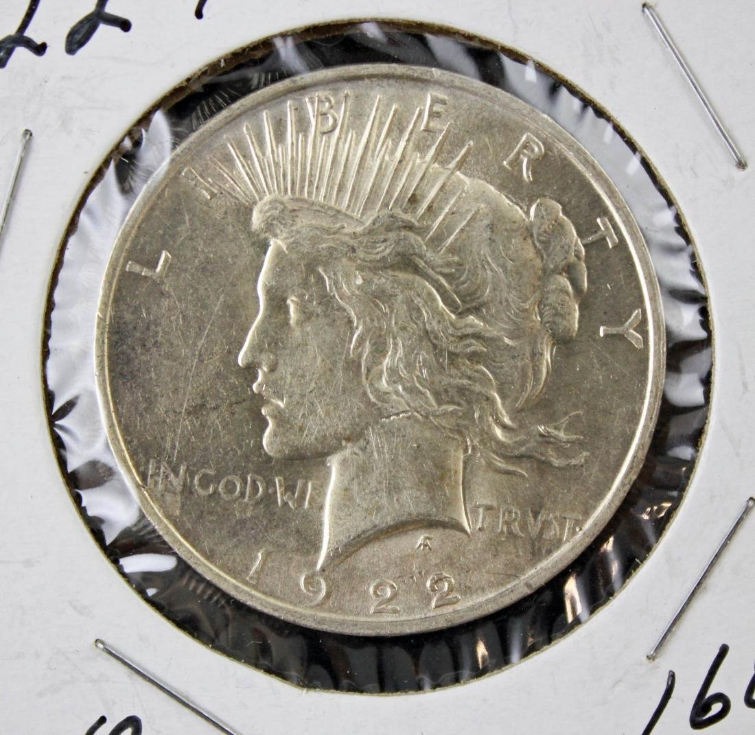 6 Peace Silver Dollars P & S Mint Marks 1922 - 23 - 2