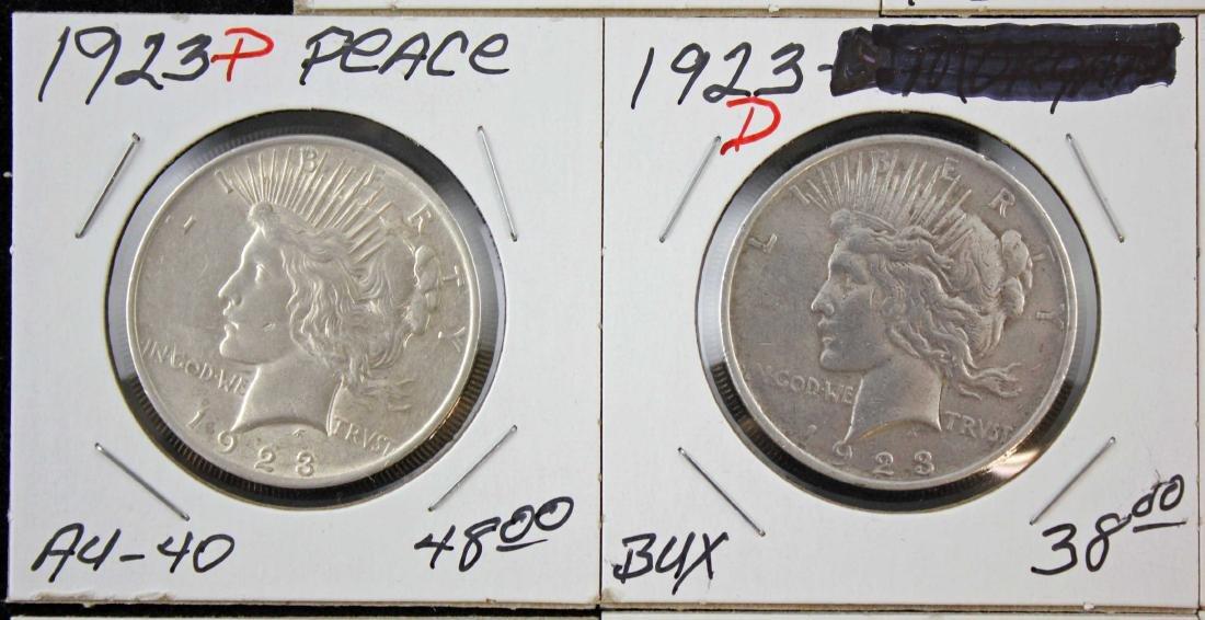 2 Morgan and 6 Peace Dollars 1881 & 1923 - 3