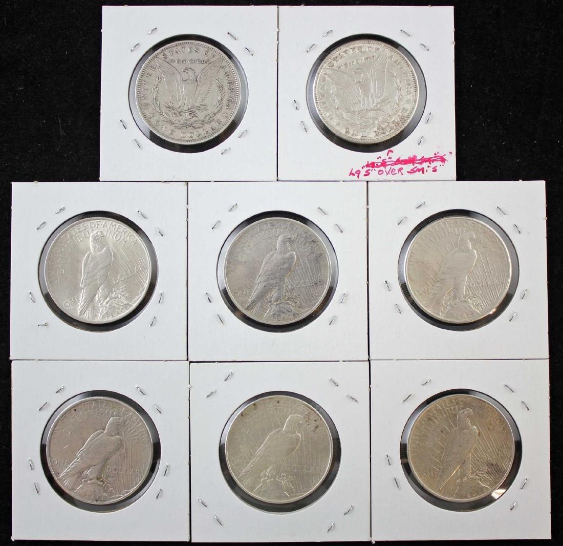 2 Morgan and 6 Peace Dollars 1881 & 1923 - 4