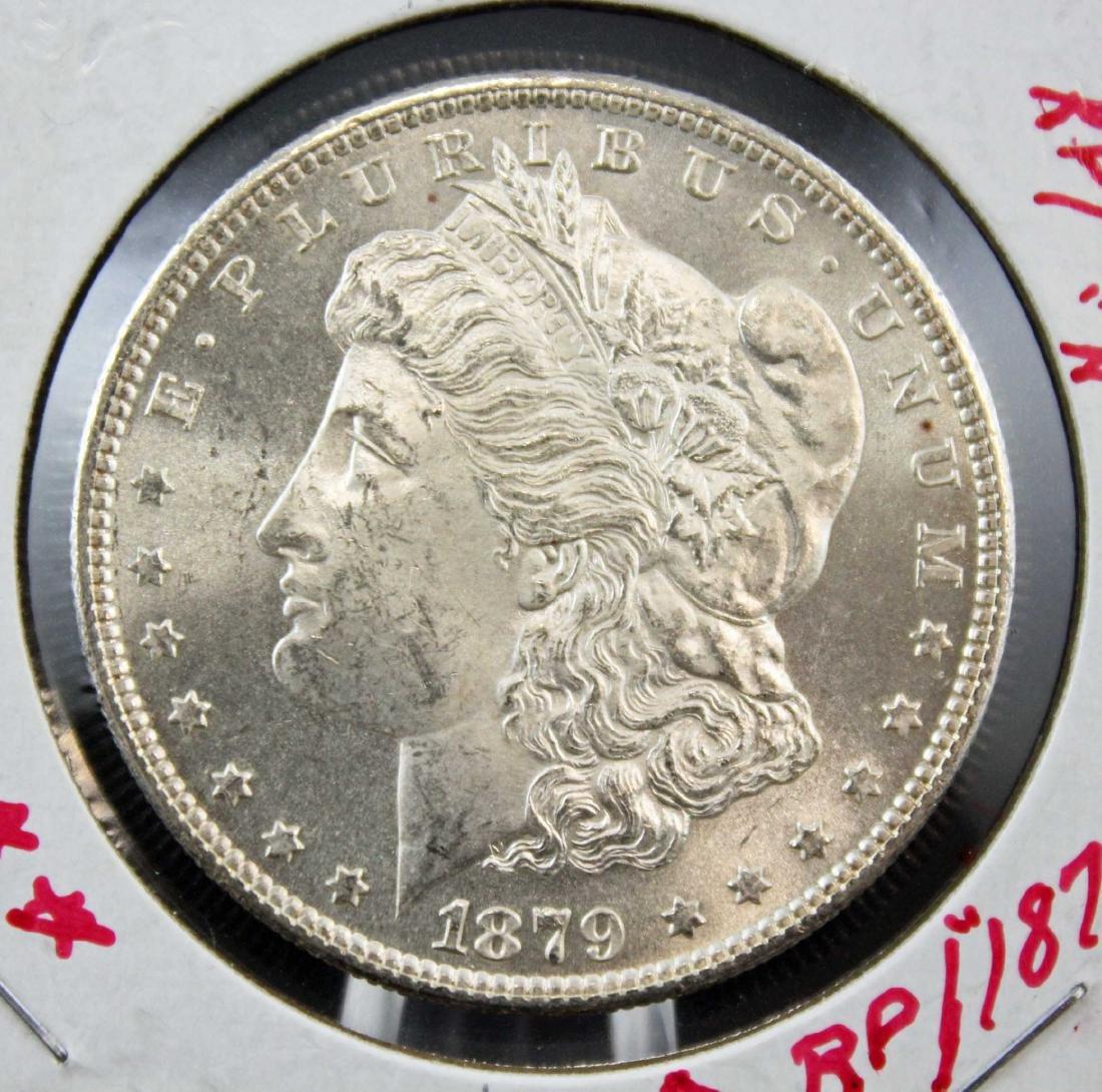 1879 S Morgan Silver Dollar Error Coin - 2