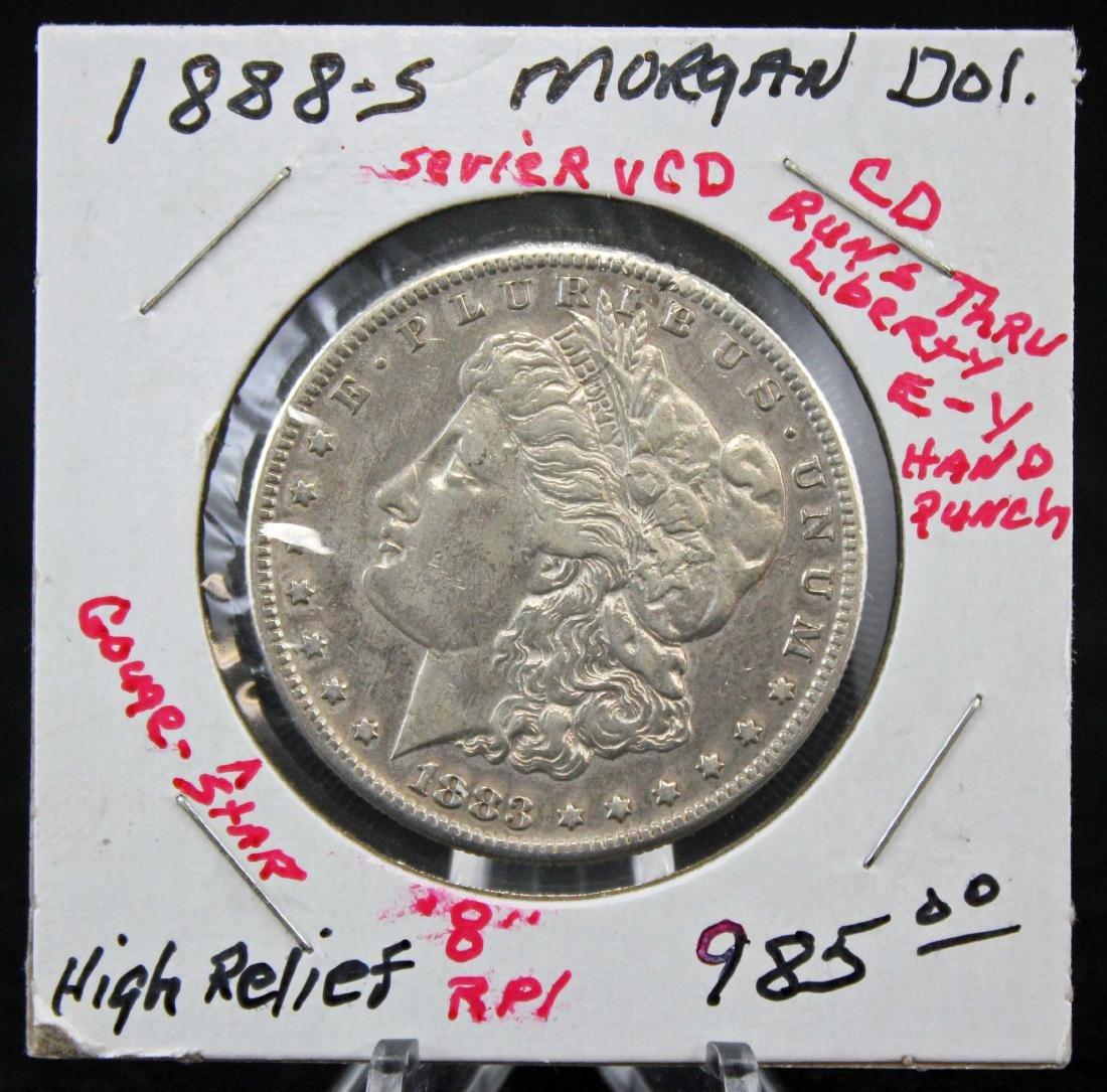 1888 S Morgan Silver Dollar Error Coin