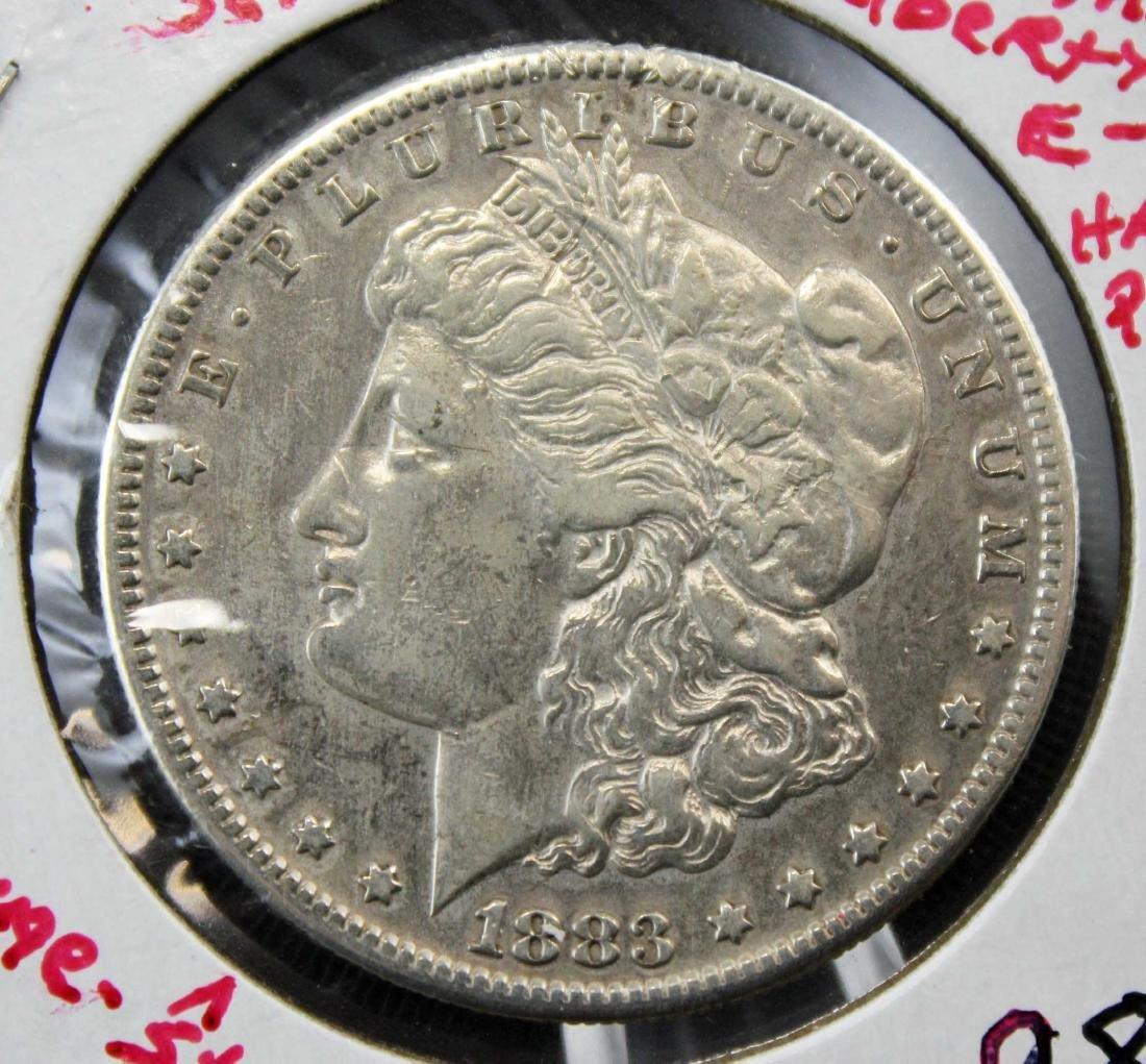 1888 S Morgan Silver Dollar Error Coin - 2