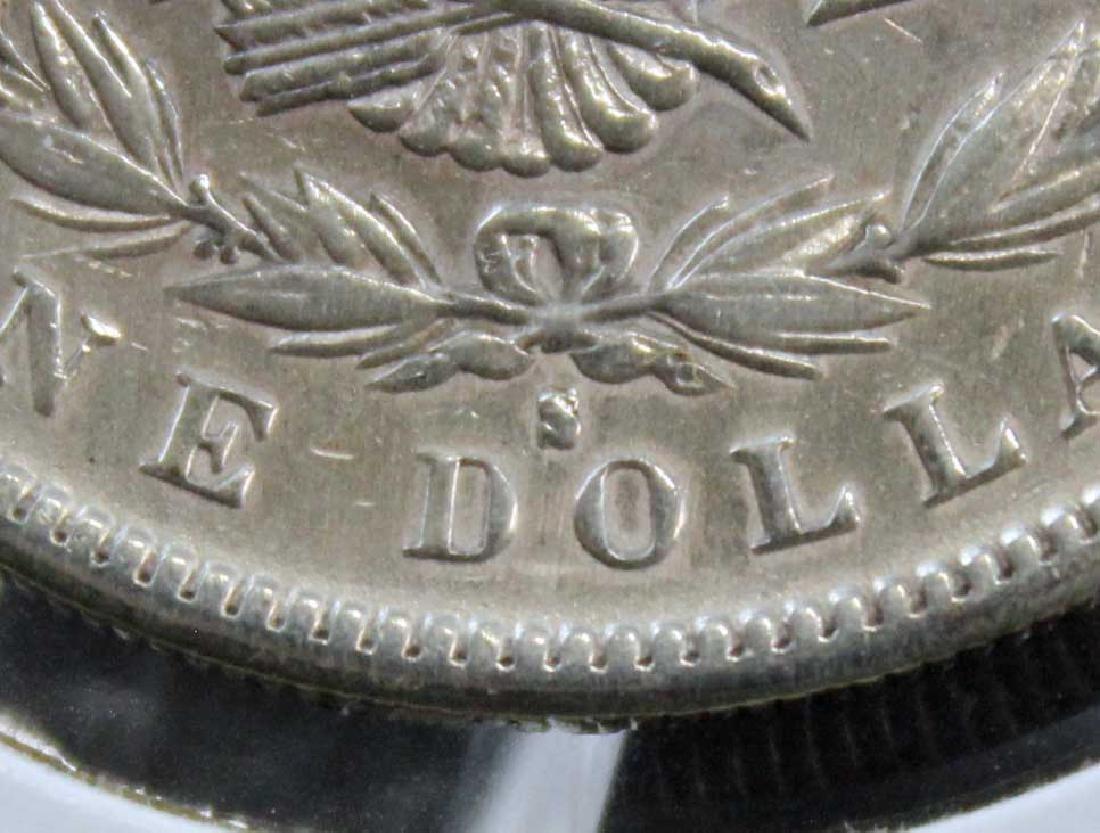 1888 S Morgan Silver Dollar Error Coin - 4