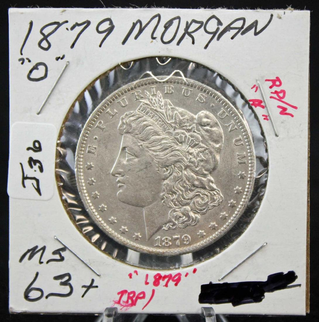 1879 O Morgan Silver Dollar Error Coin