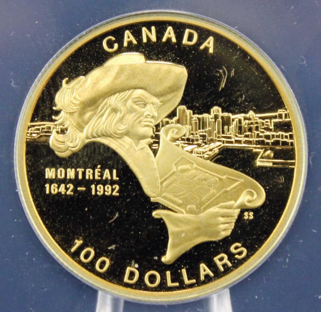1992 Canada Gold 1/4 Oz  $100 PF 68 DCAM Coin - 2