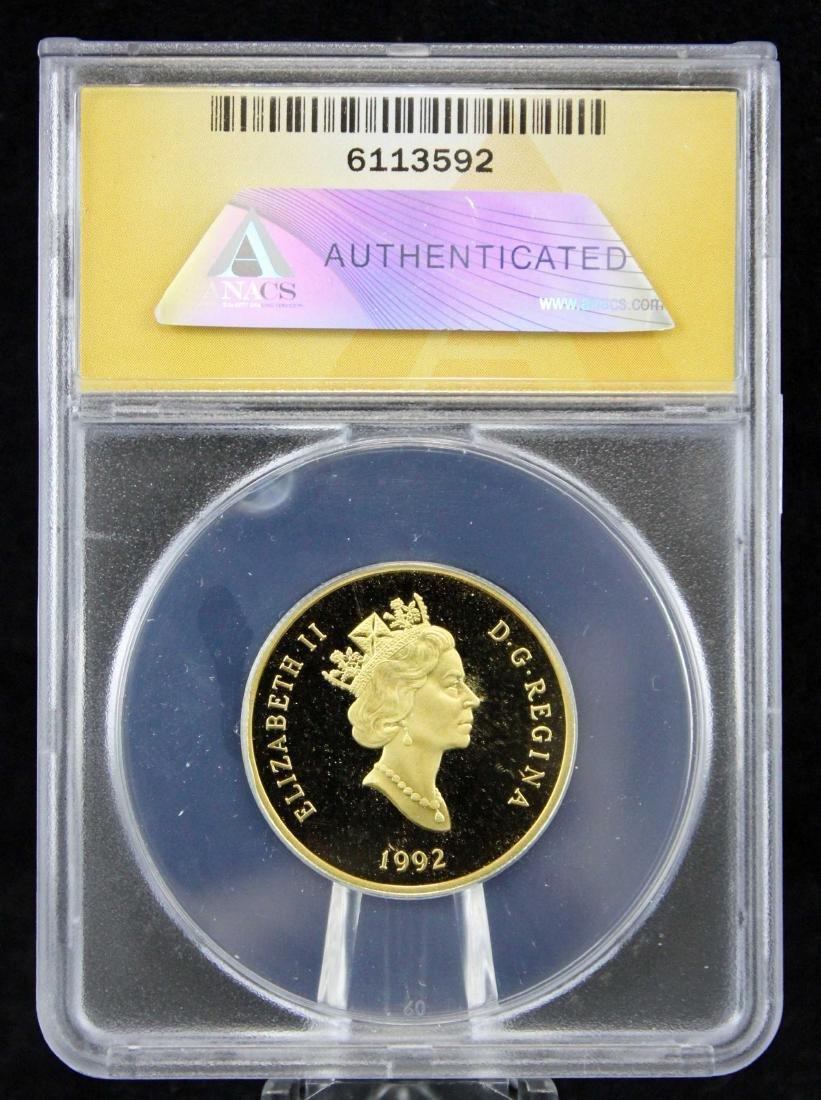 1992 Canada Gold 1/4 Oz  $100 PF 68 DCAM Coin - 3
