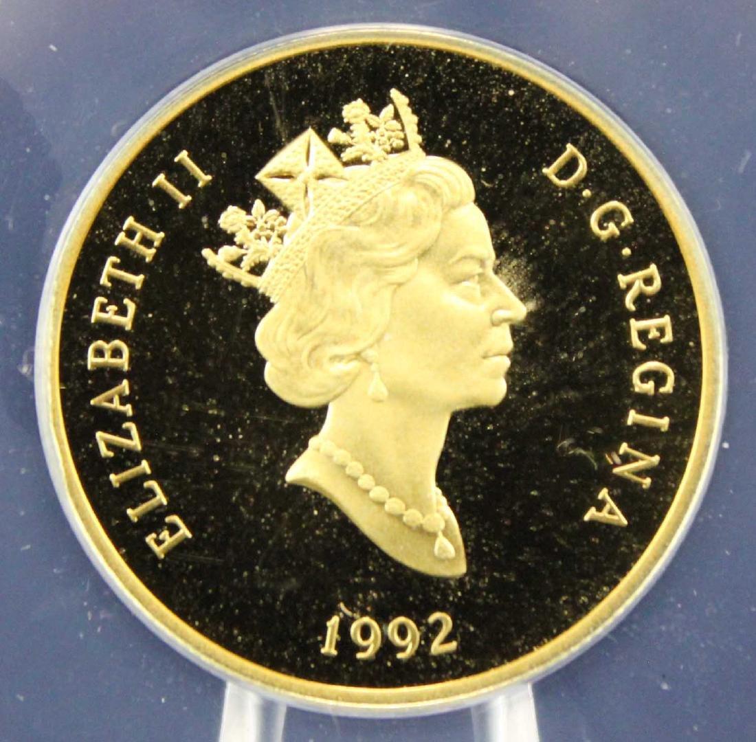 1992 Canada Gold 1/4 Oz  $100 PF 68 DCAM Coin - 4