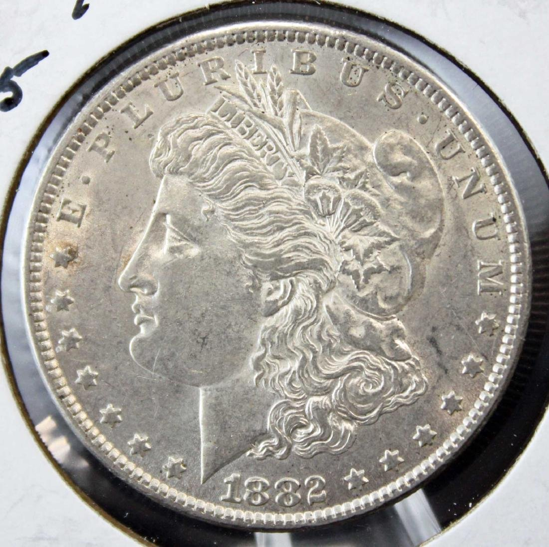 2 Morgan Silver Dollars w/ Errors 1882 P & 1884 O - 2