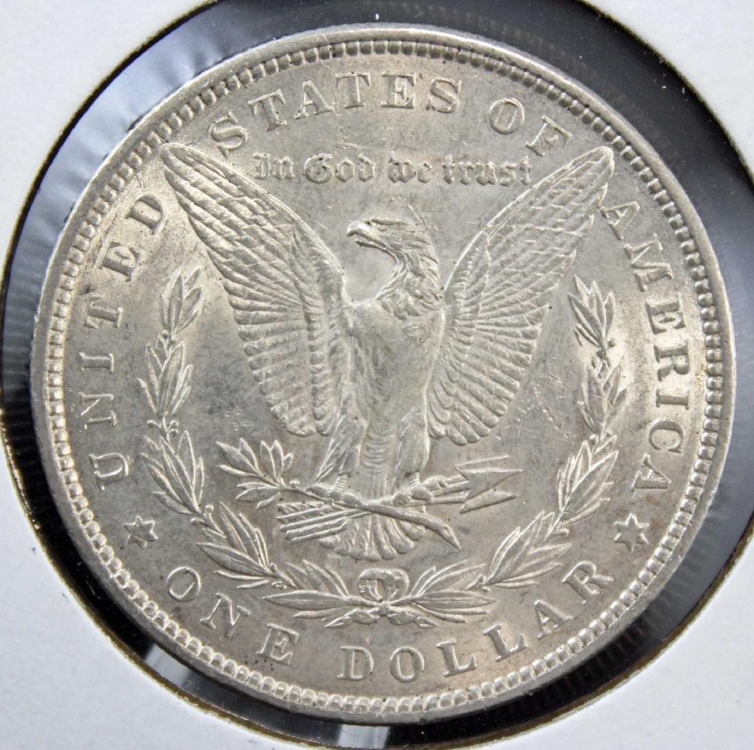 2 Morgan Silver Dollars w/ Errors 1882 P & 1884 O - 3