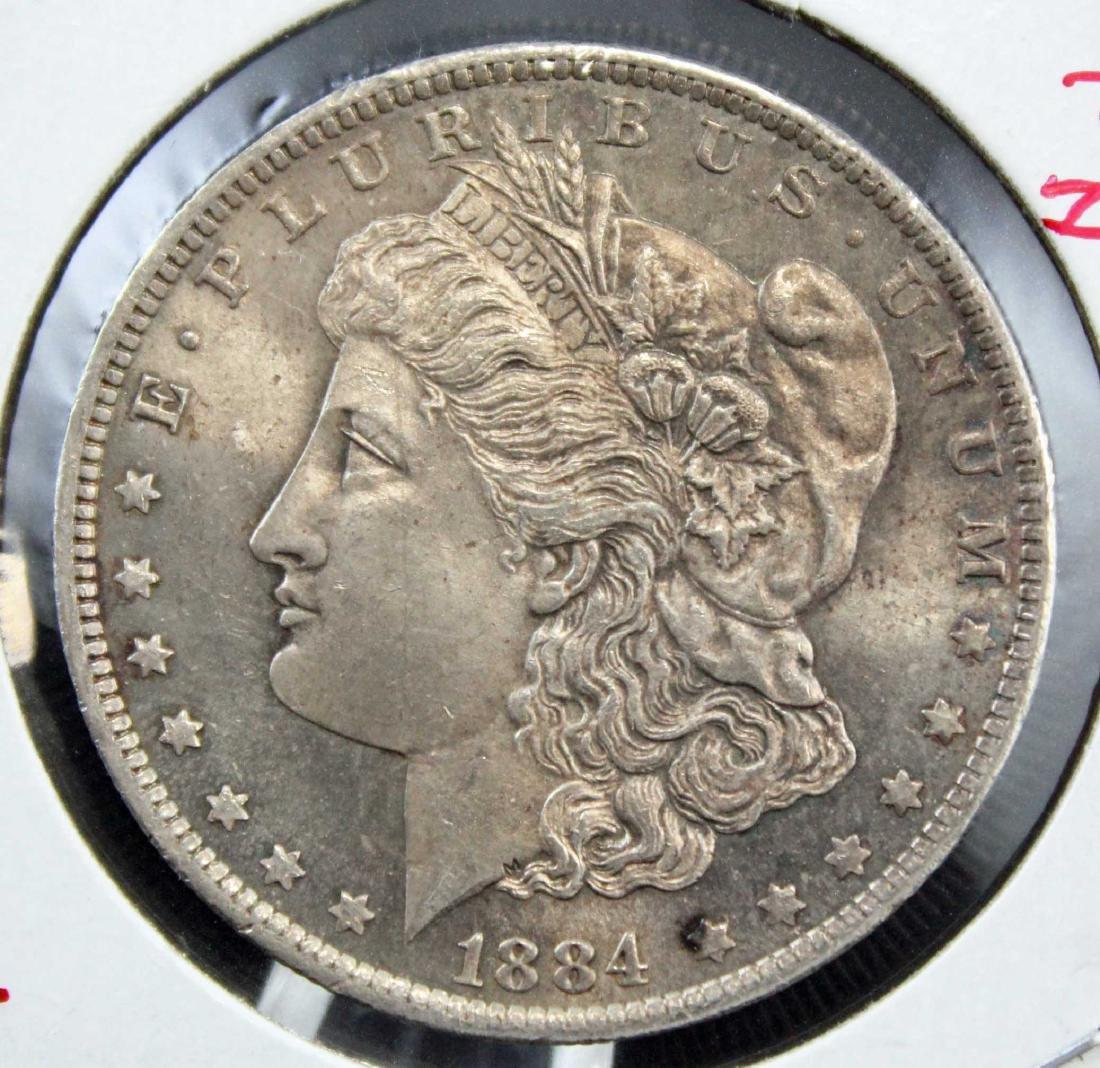 2 Morgan Silver Dollars w/ Errors 1882 P & 1884 O - 4