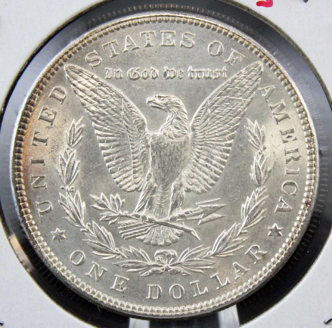 Two 1889 P Morgan Silver Dollars with Errors - 3