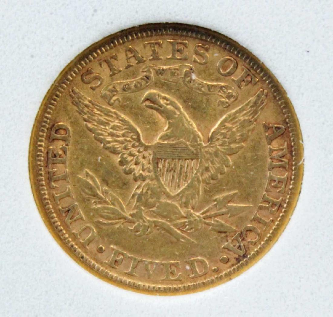 1881 Five Dollar Gold Liberty Head Coin NCGS AU 58 - 4