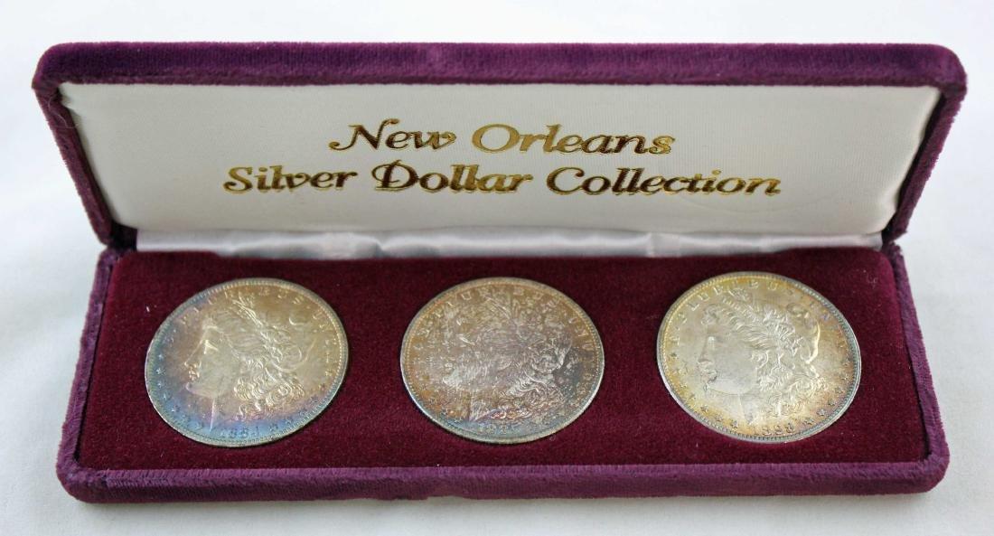 New Orleans Morgan Dollar Set 1884, 1885 & 1898