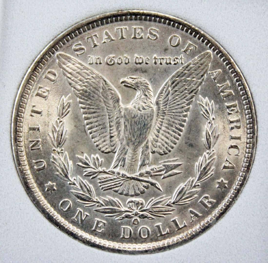 1900 O Morgan Silver Dollar with Errors NCGS MS66 - 4