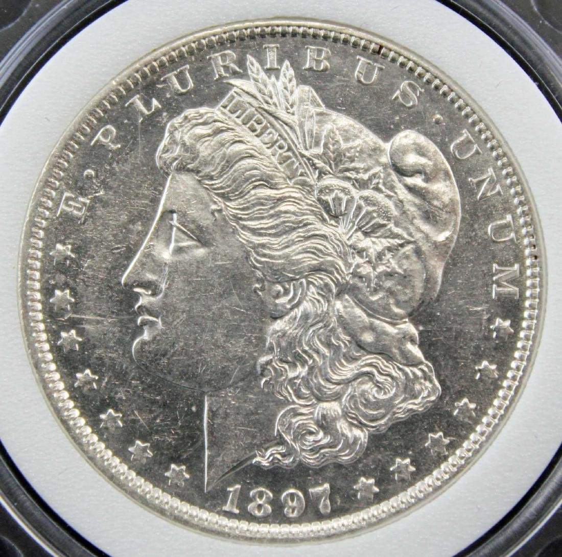 1897 Morgan Silver Dollar NAC Graded MS66 - 2