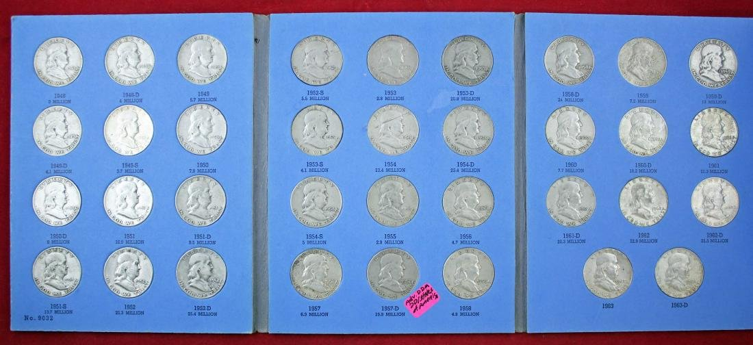 Ben Franklin Silver Half Dollar Album 1948 - 1963