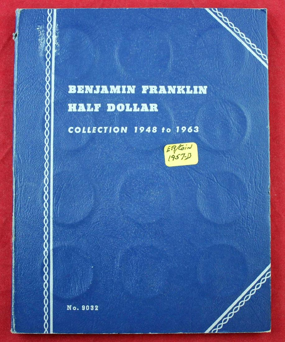 Ben Franklin Silver Half Dollar Album 1948 - 1963 - 5