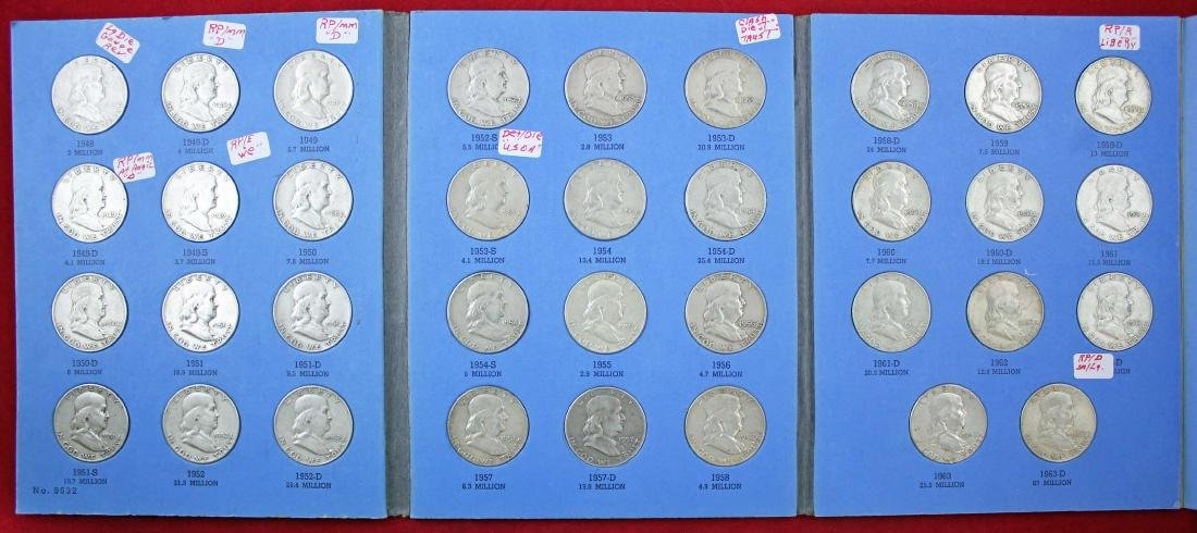 Ben Franklin Silver Half Dollar Album 1948 - 1963
