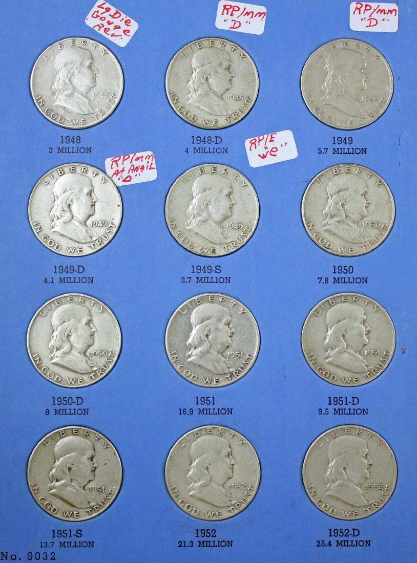 Ben Franklin Silver Half Dollar Album 1948 - 1963 - 2
