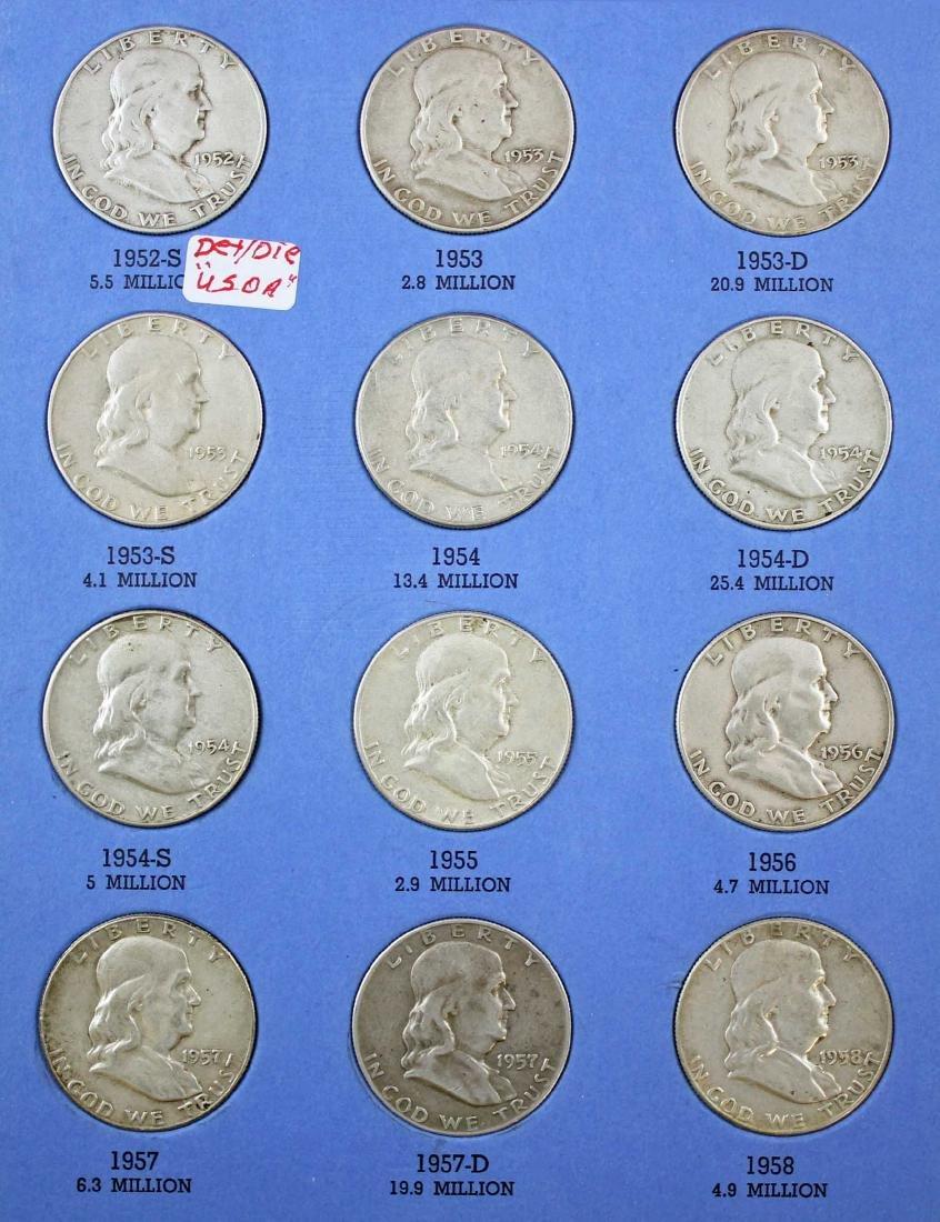 Ben Franklin Silver Half Dollar Album 1948 - 1963 - 3