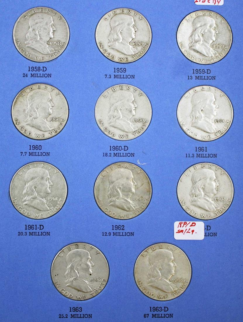 Ben Franklin Silver Half Dollar Album 1948 - 1963 - 4