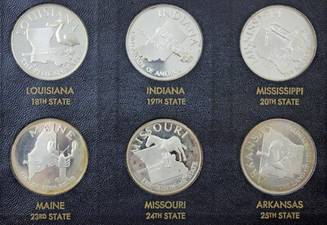 Franklin Mint 50 States Proof Set   22.5 Troy Oz. - 2