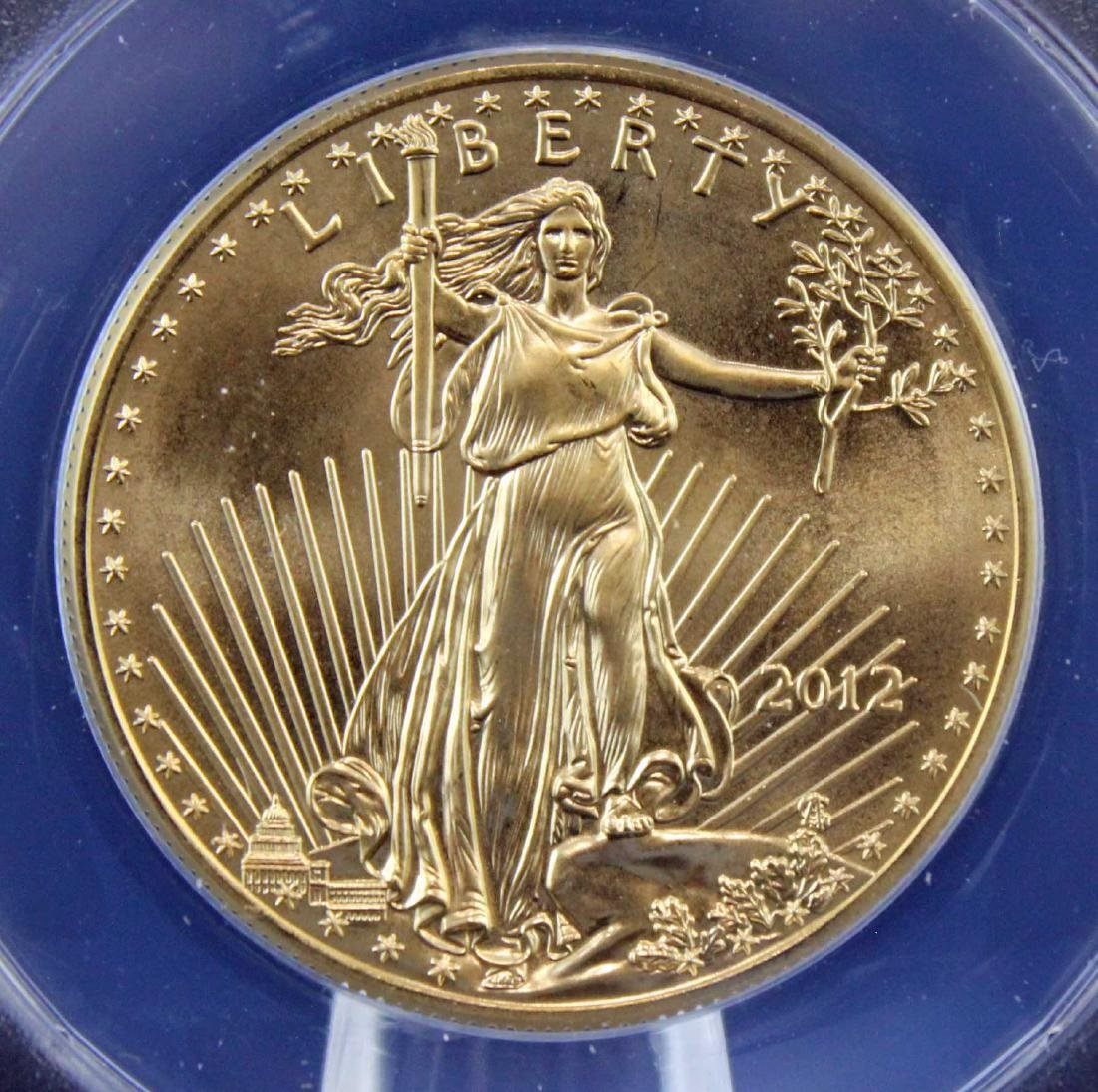 2012 Gold Eagle $50 Coin 1 Troy Oz.  ANACS MS 68 - 2