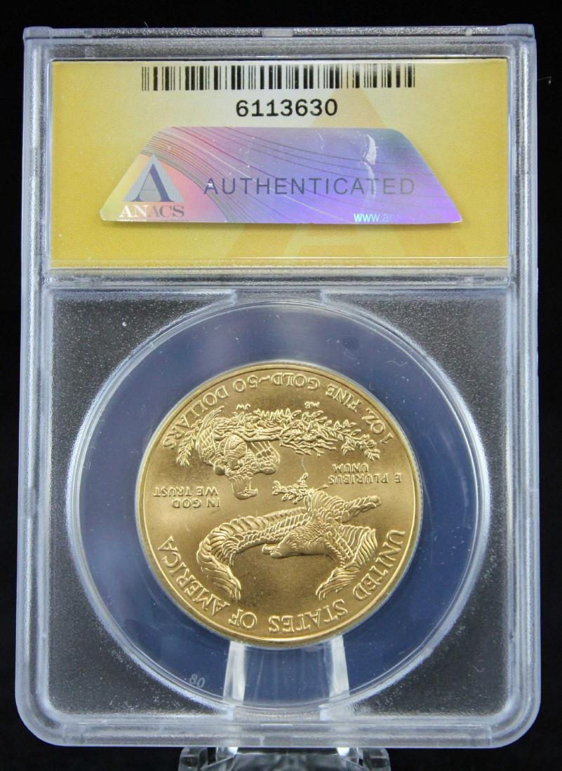 2012 Gold Eagle $50 Coin 1 Troy Oz.  ANACS MS 68 - 3