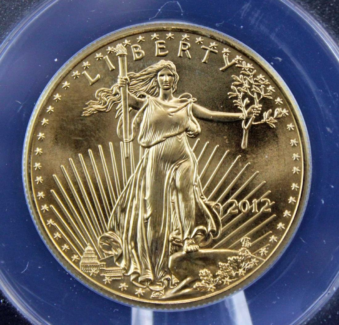 2012 Gold Eagle $50 Coin 1 Troy Oz.  ANACS MS 69 - 2