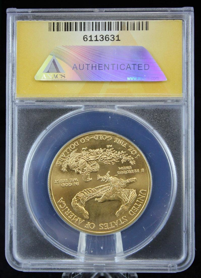 2012 Gold Eagle $50 Coin 1 Troy Oz.  ANACS MS 69 - 3