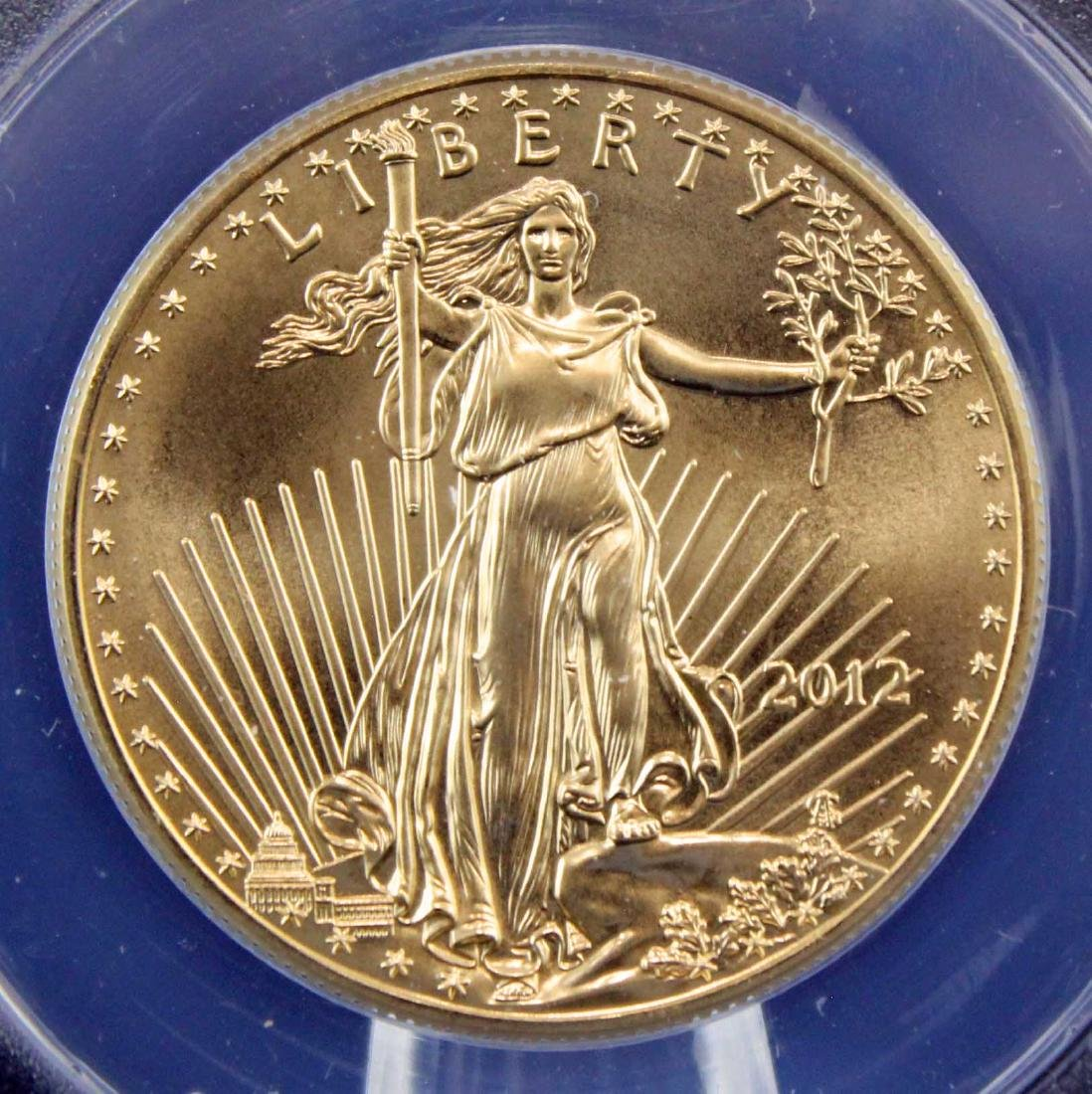2012 Gold Eagle $50 Coin 1 Troy Oz.  ANACS MS 70 - 2