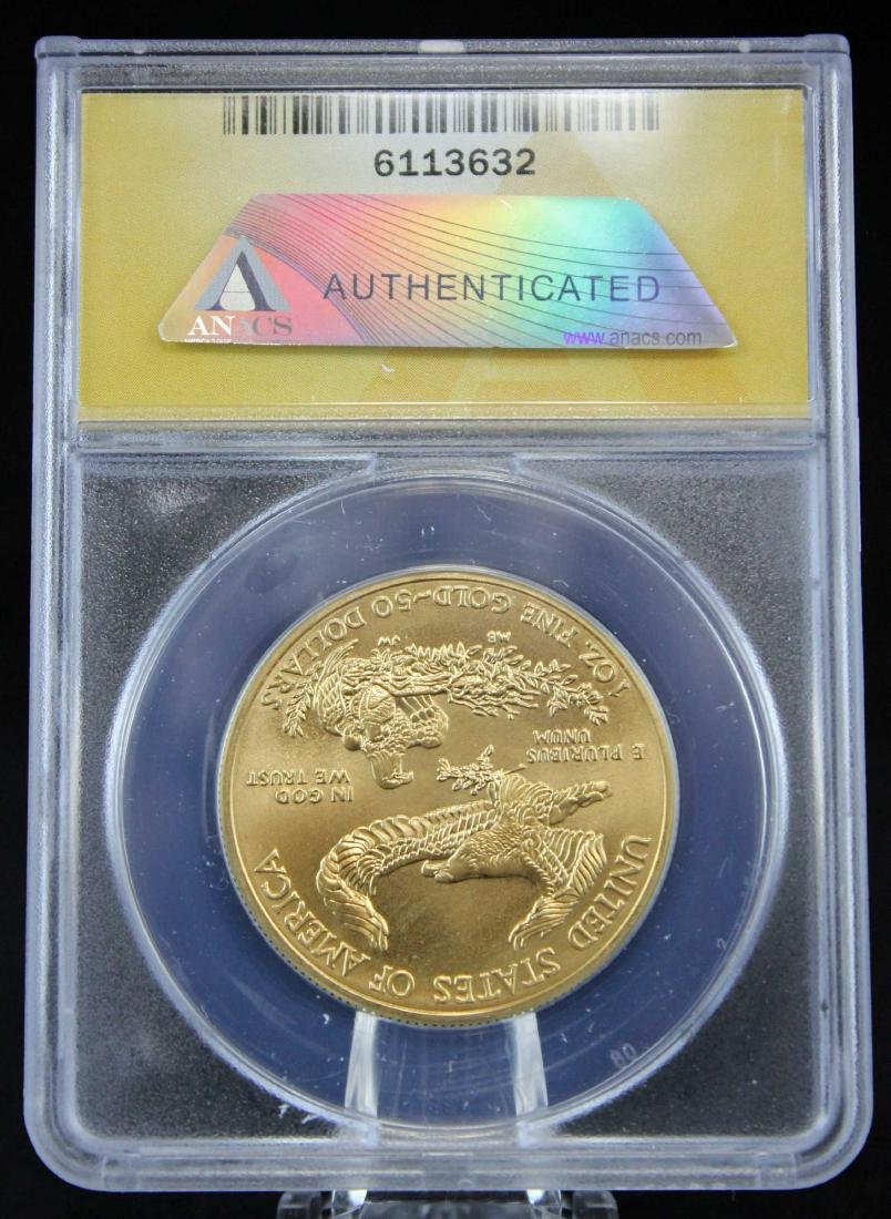 2012 Gold Eagle $50 Coin 1 Troy Oz.  ANACS MS 70 - 3