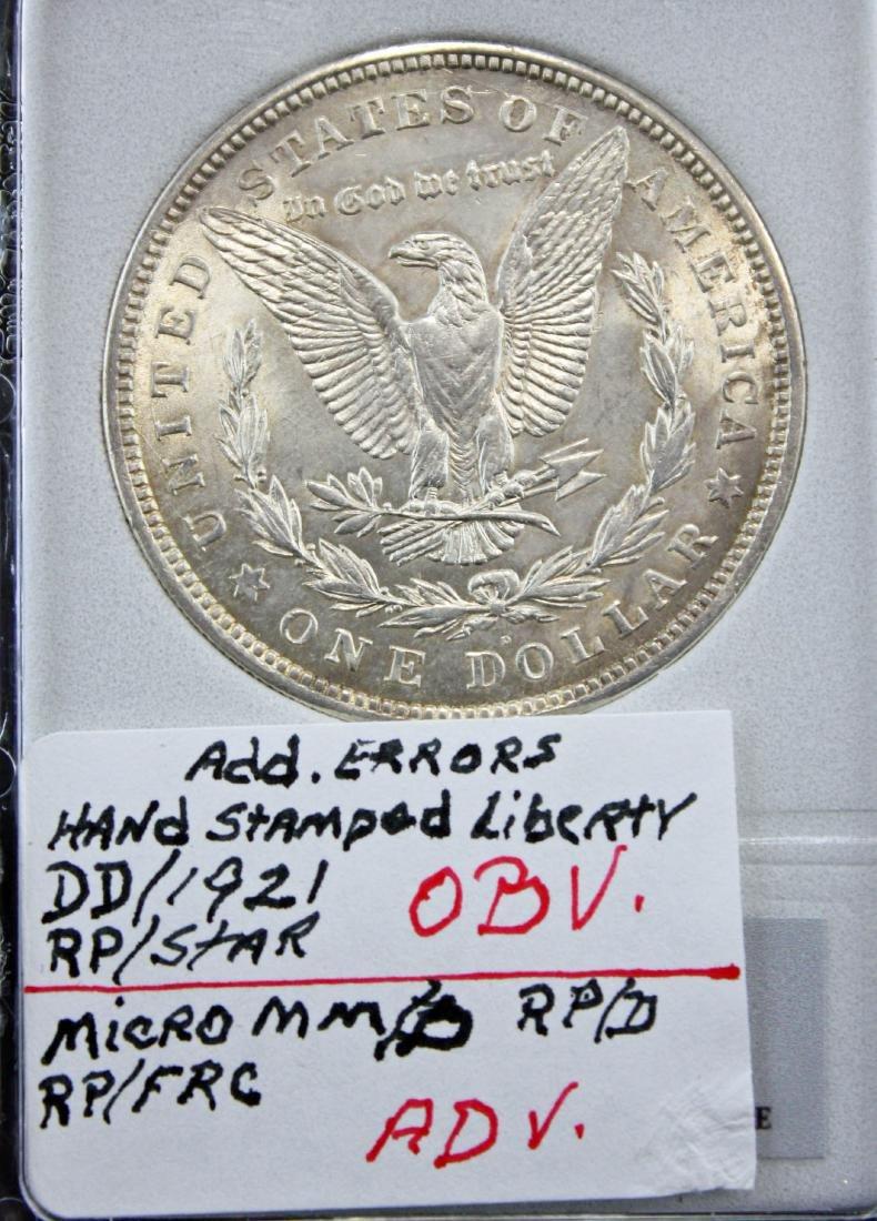 3 -1921 Morgan Dollars 2-1921 P & D MS64 w/ Errors - 3