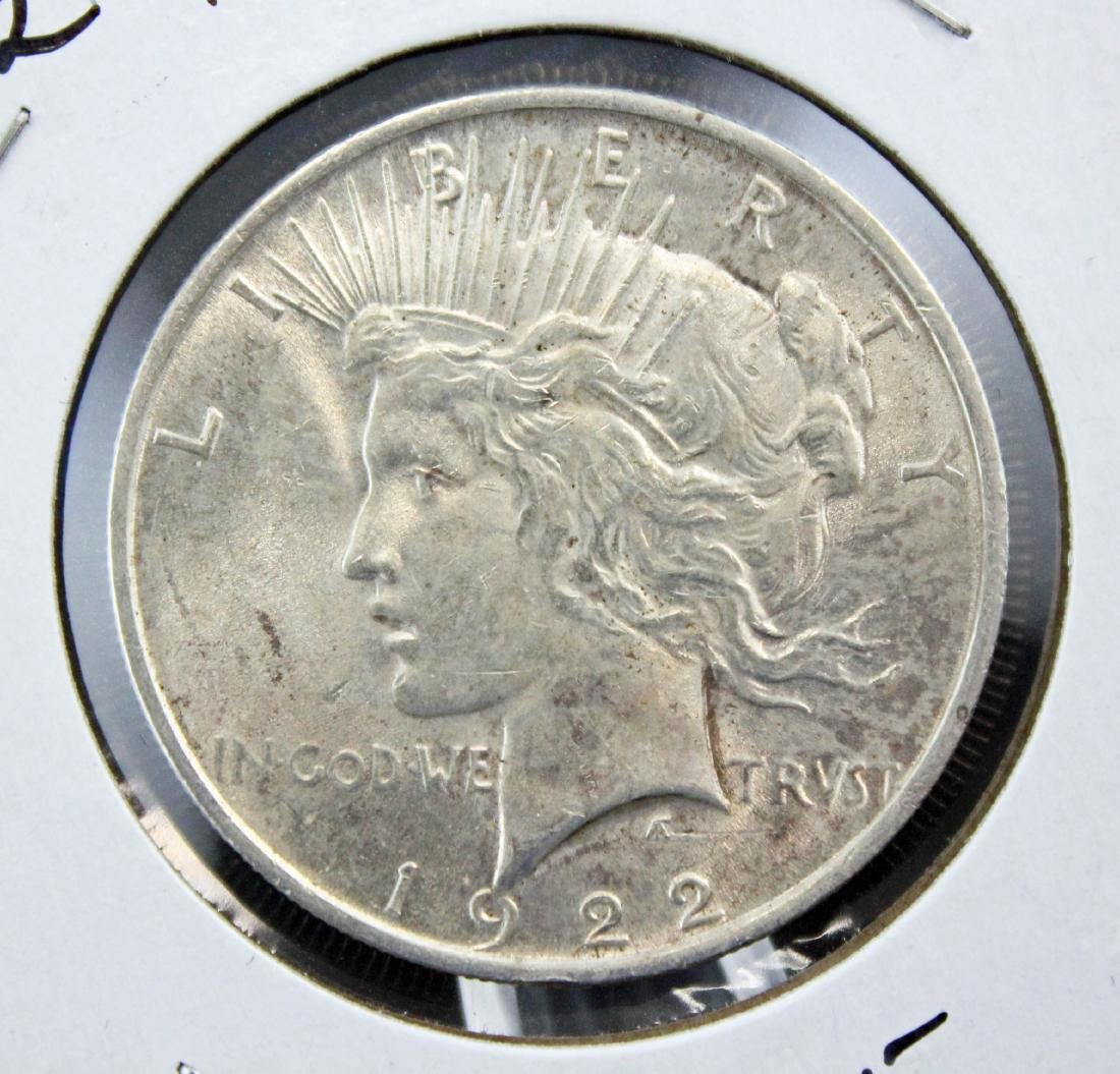 Nine 1922 and 1923 Peace Silver Dollars - 5