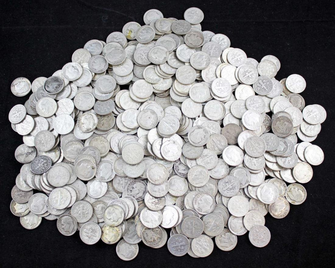 500 Roosevelt .90% Silver Dimes Pre 1964 $50 Face