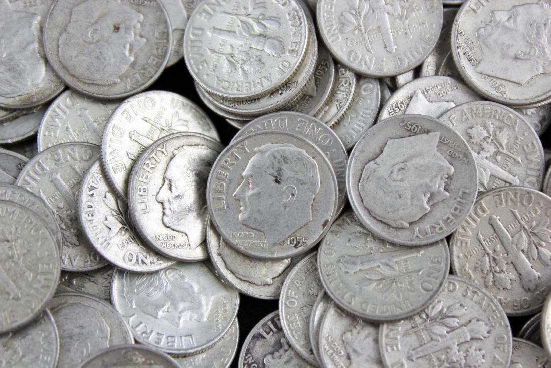 500 Roosevelt .90% Silver Dimes Pre 1964 $50 Face - 2