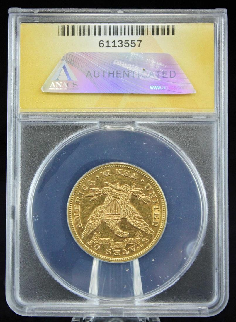 1880 $10 Liberty Head Gold Coin ANACS Graded AU 55 - 3