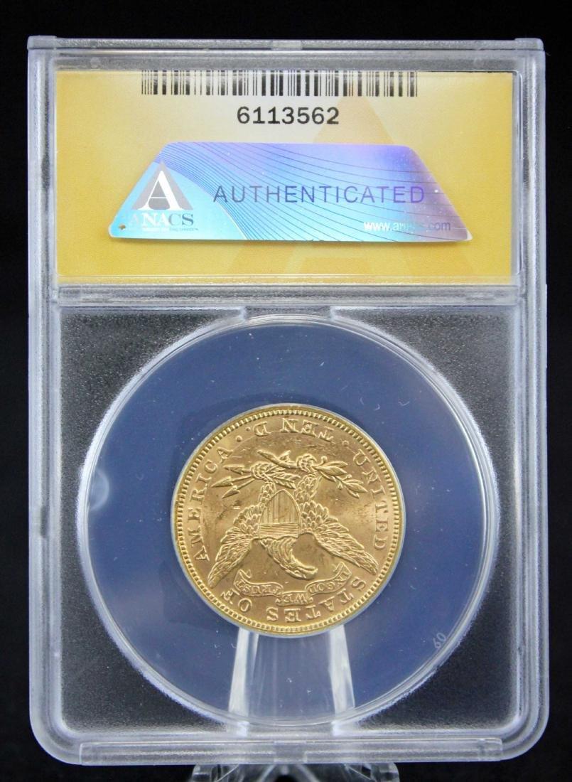 1893 $10 Liberty Head Gold Coin ANACS Graded MS 61 - 3