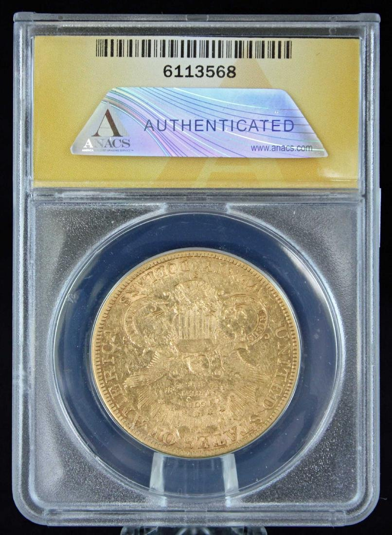 1882 S $20 Liberty Head Gold Coin ANACS AU 45 - 3