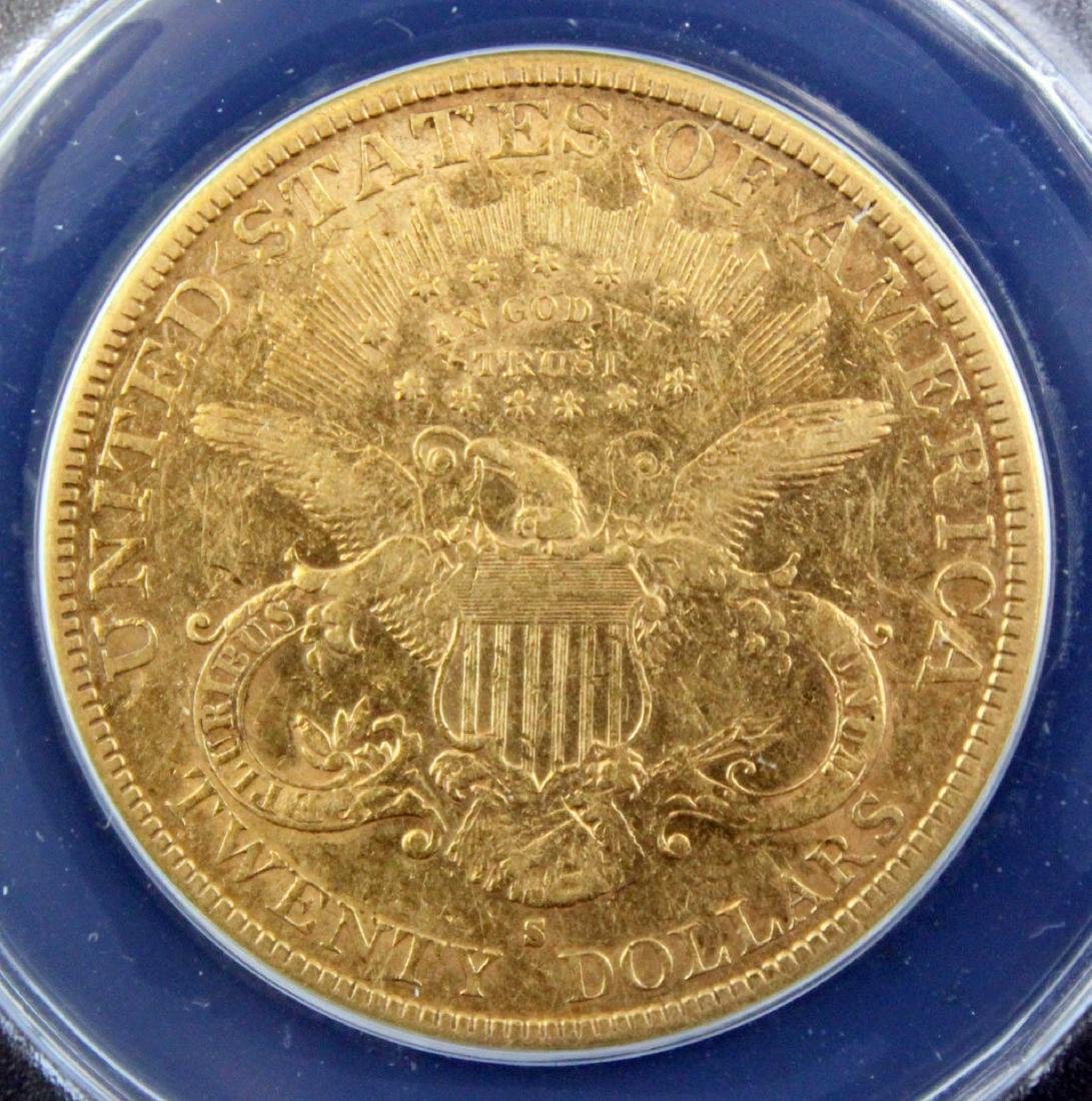 1882 S $20 Liberty Head Gold Coin ANACS AU 45 - 4