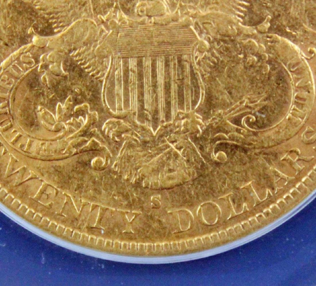 1882 S $20 Liberty Head Gold Coin ANACS AU 45 - 5