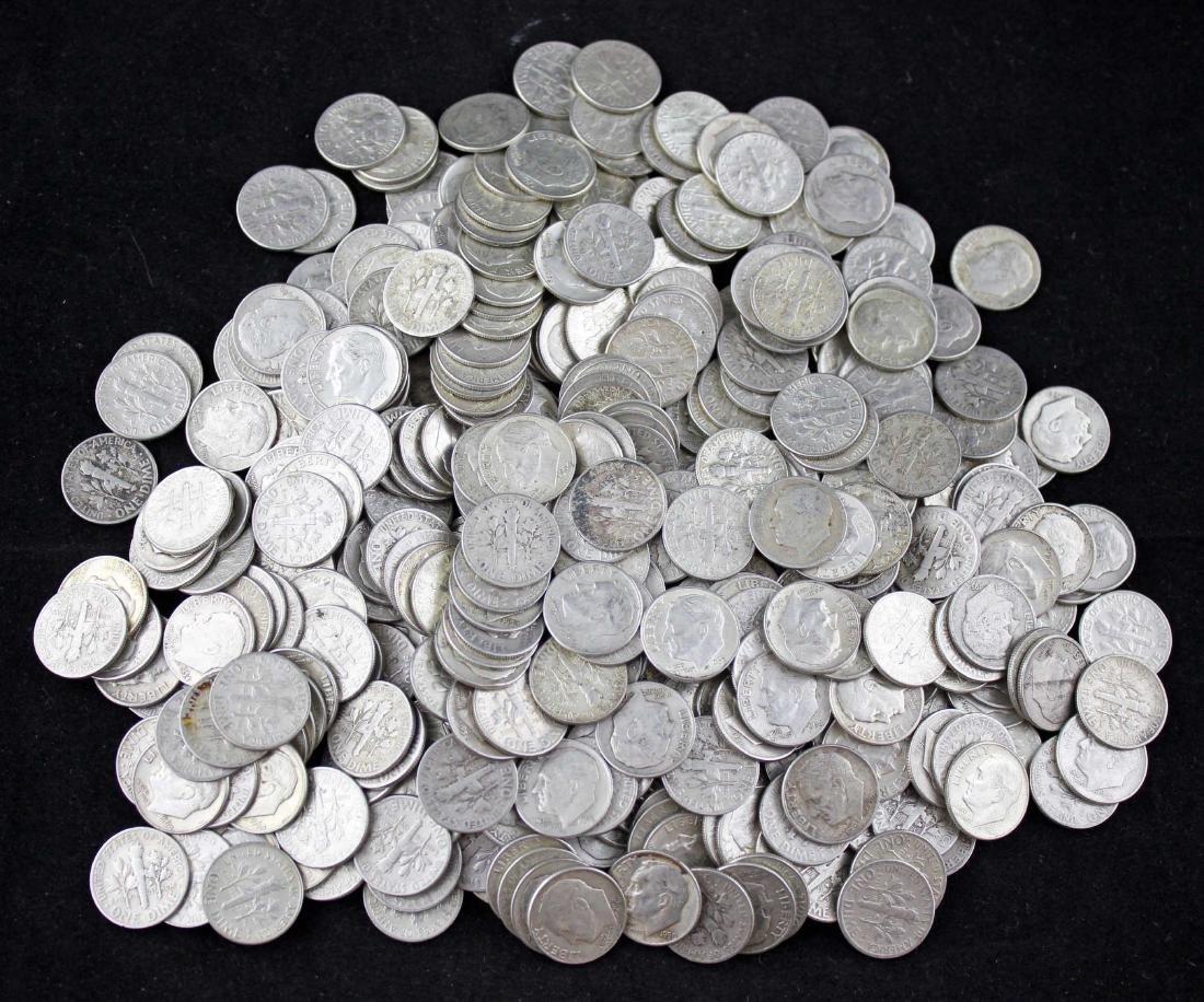 400 Roosevelt Dimes 90% Silver